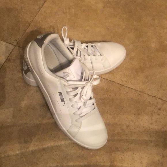 Puma Shoes | Puma White Leather Lace Up